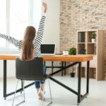 Working at home can be a pain in the neck — literally!