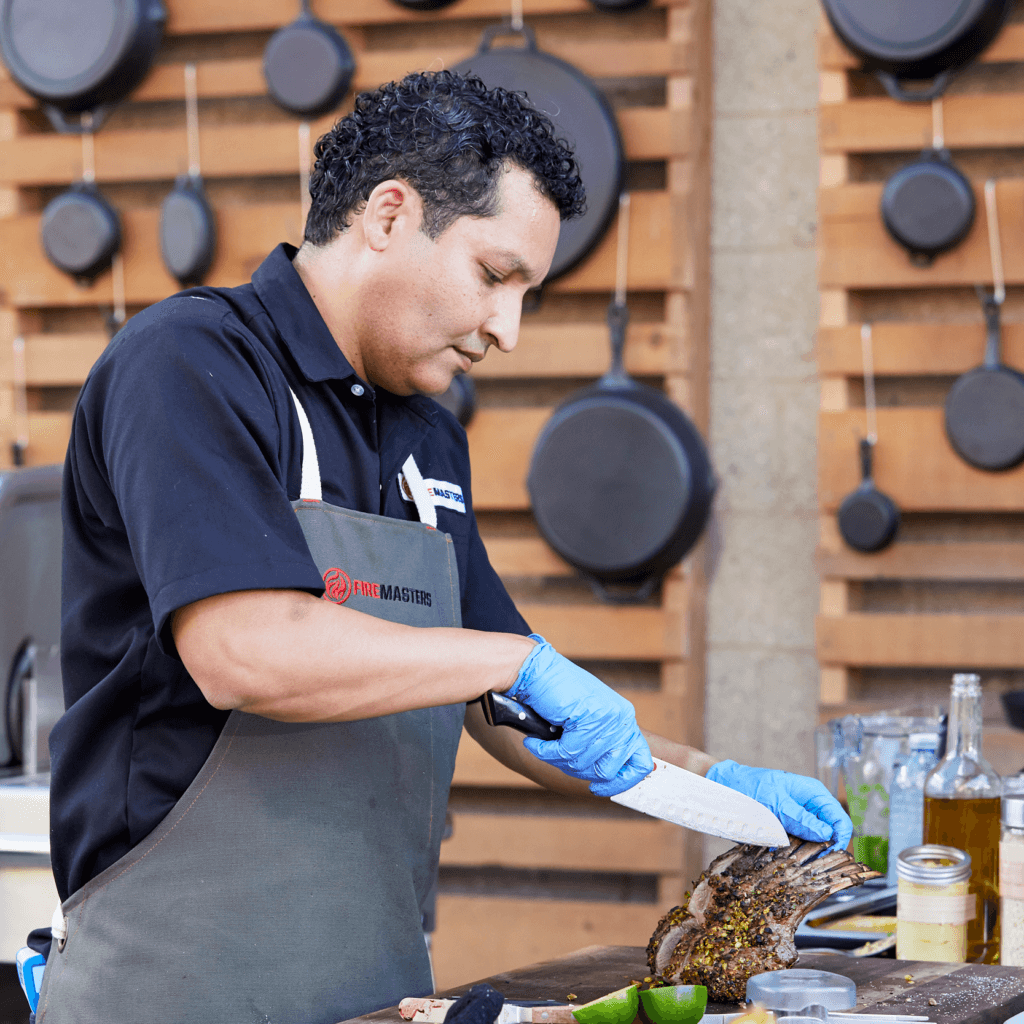 Chef Milton Rebello Competes on Fire Masters