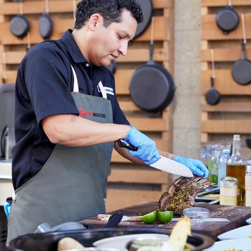 Chef Milton Rebello Competes on Fire Masters - Cuisine