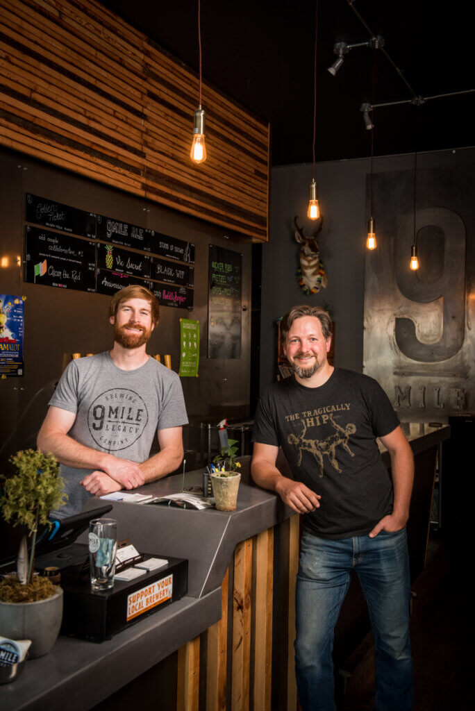 Shawn Moen and Garrett Pederson of 9 Mile Legacy Brewing in Saskatoon