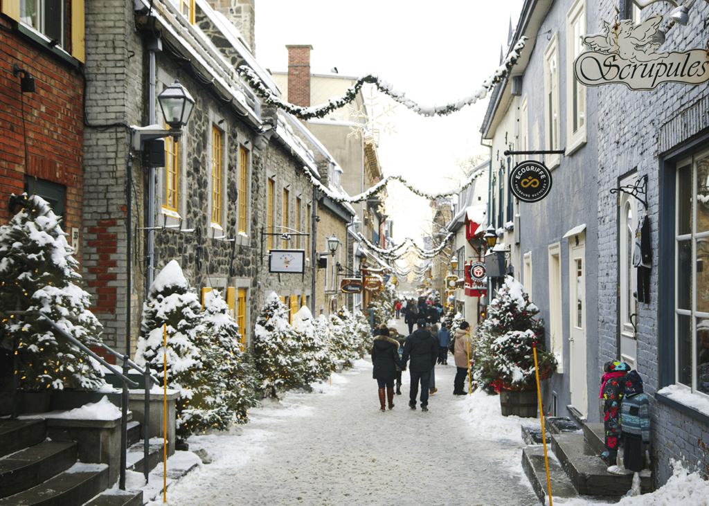 Old Quebec is a year-round tourist destination