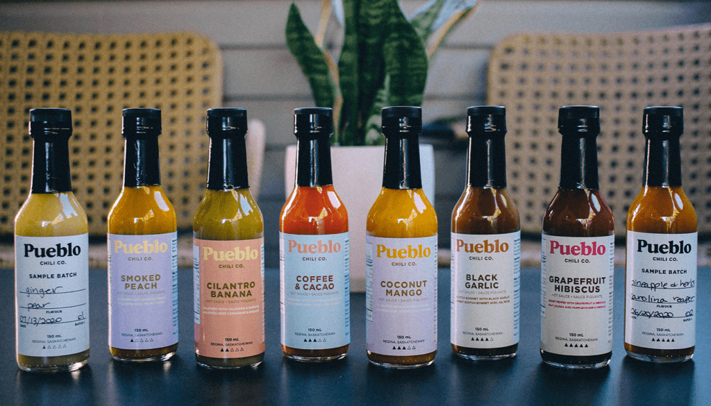 The Pueblo Chili Co. Product Range, photo credit Raquel Vigueras