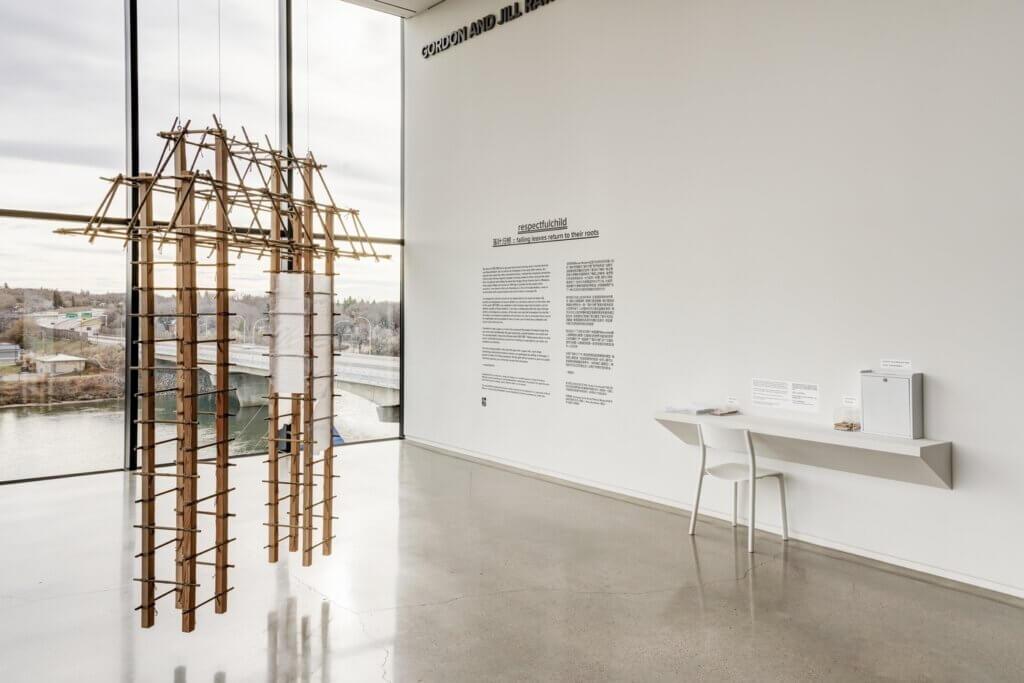 Saskatoon artist, respectfulchild, created a gallery installation at Remai Modern
