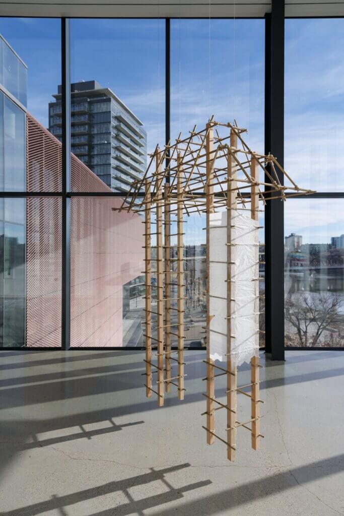 respectfulchild constructs a gallery installation at Remai Modern
