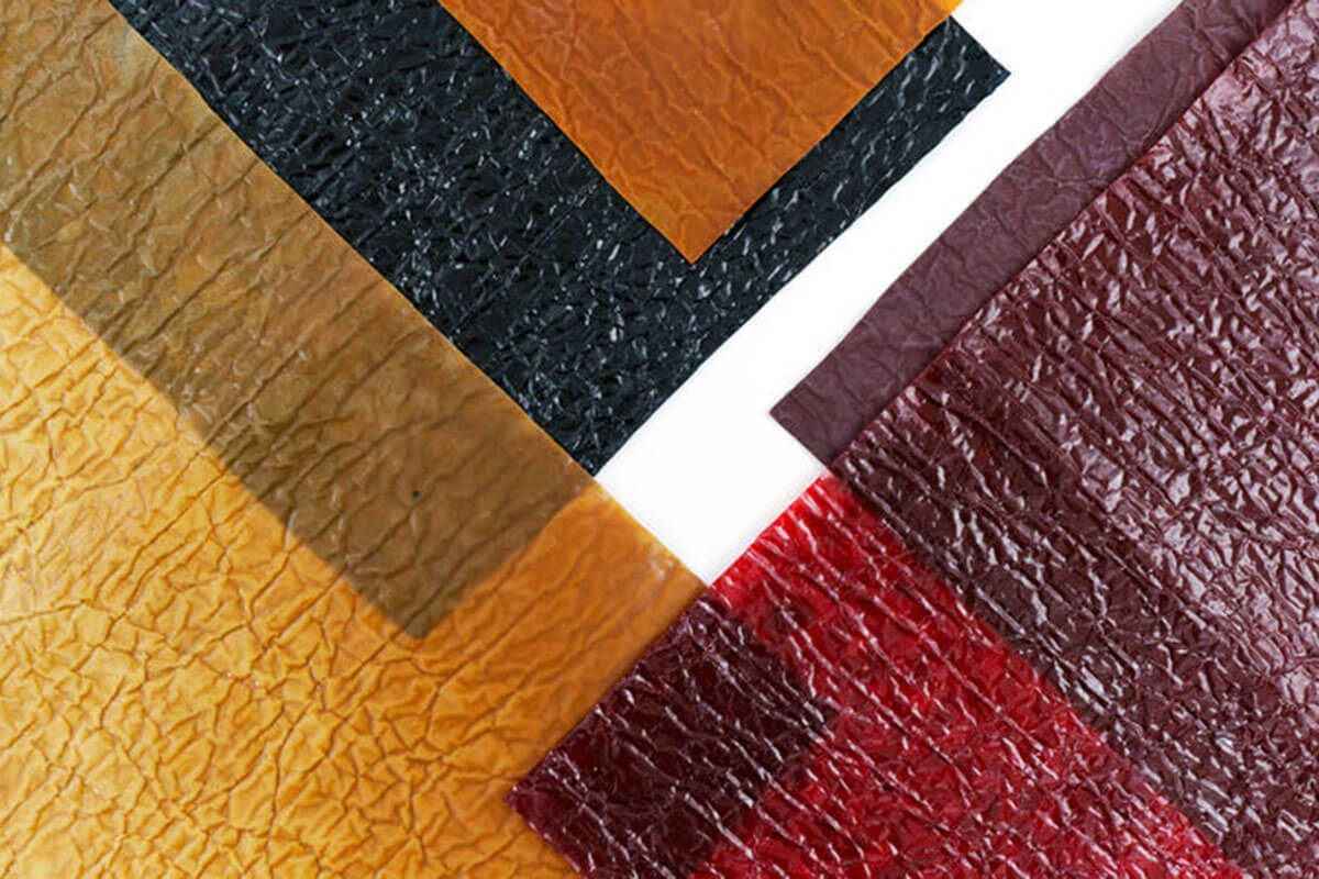 Tomex Leather Textile is 2021 trend, a leather textile made from seafood shells and coffee grounds that comes in many colours.
