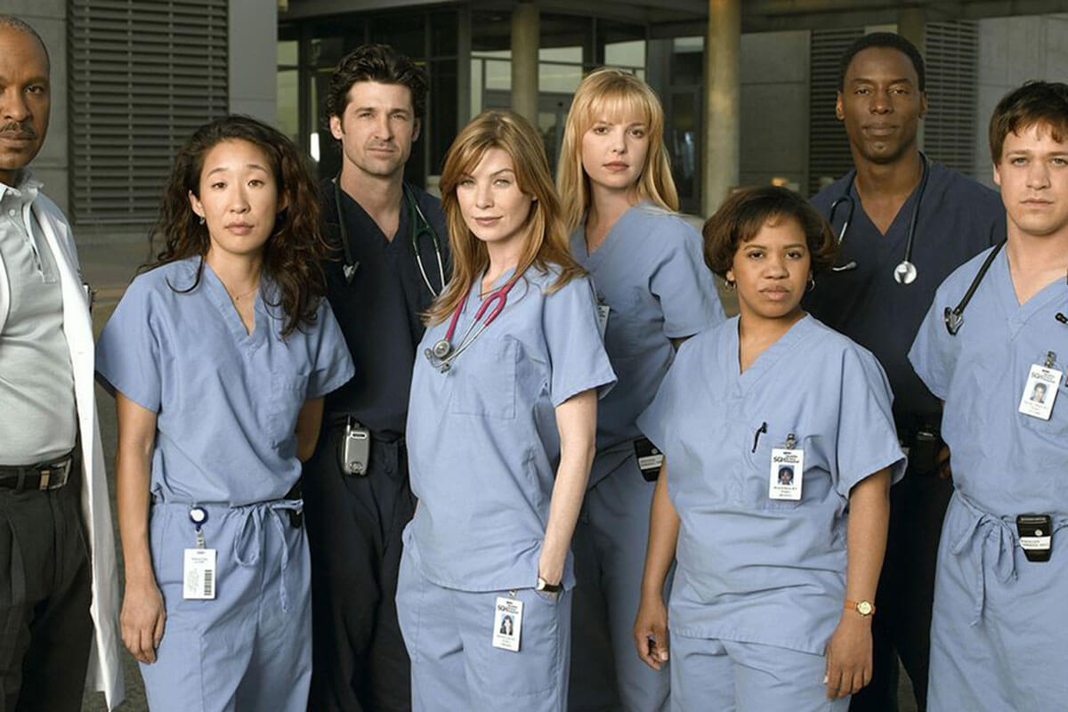 A photo of the cast of Grey's Anatomy, one of Toast's must-watch TV & movie classics