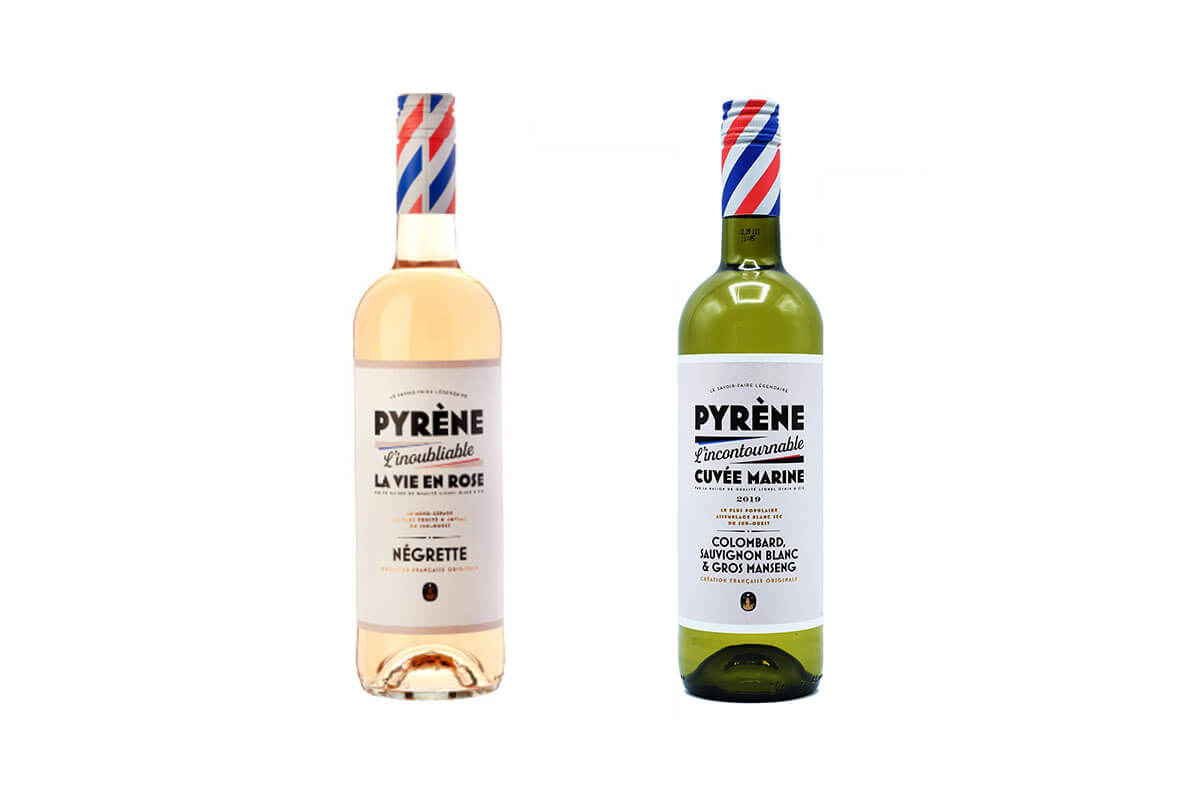 Some of the top 10 wines under $25, a bottle of Pyrène - La Vie en Rose 2019 - France and a bottle of Pyrène - Cuvée Marine White 2019 - France