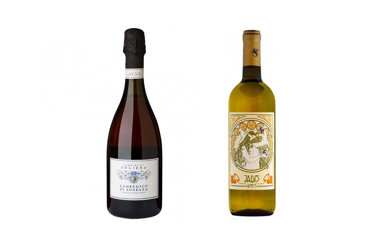 A bottle of Pyrène - Cuvée Marine White 2019 - France and a bottle of Jadis White (undeclared vintage) - Italy, two of the top 10 wines under $25
