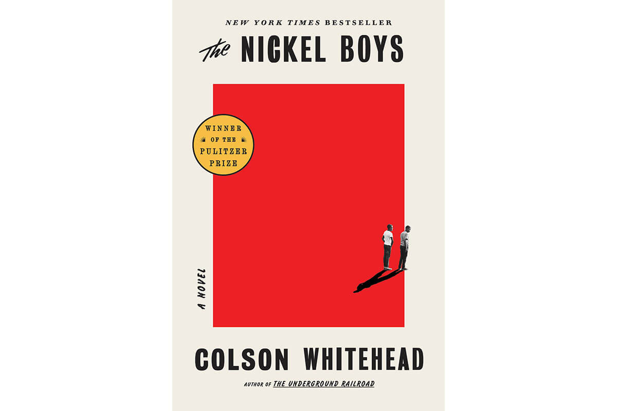 Red & beige book cover for The Nickel Boys, celebrating Black History Month