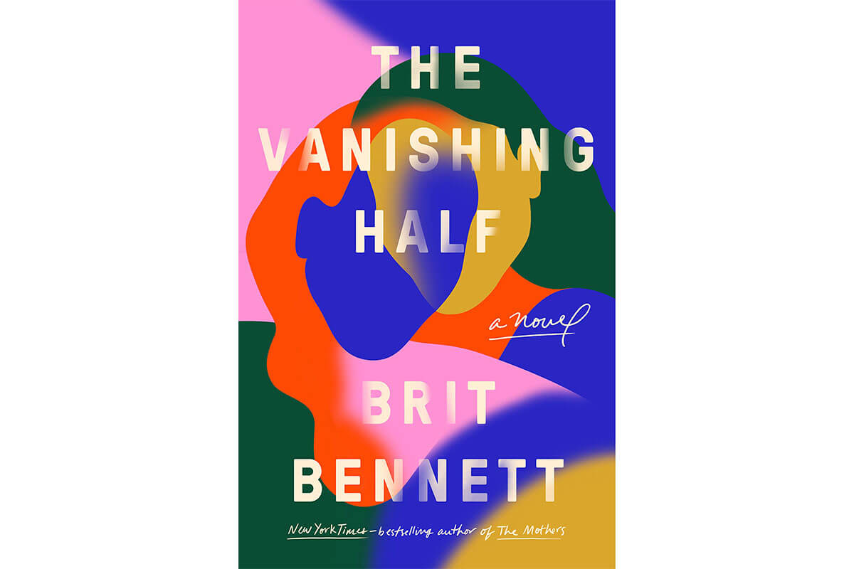 Multicoloured cover of The fiction novel, The Vanishing Half