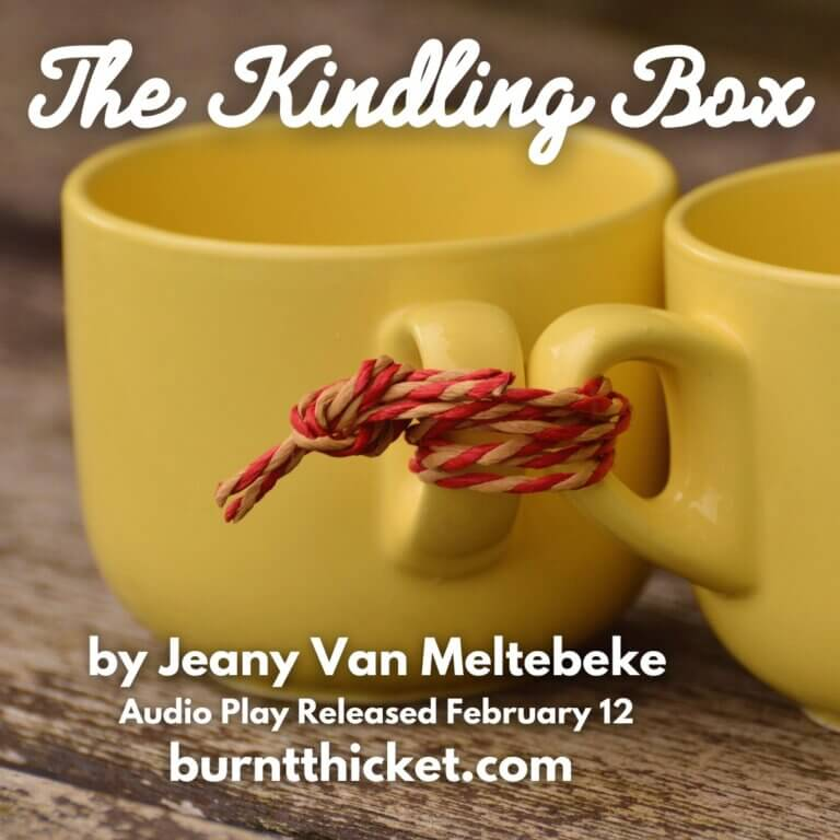 Saskatoon events in February, 2 yellow mugs with handles tied by string, lead shot for The Kindling Box
