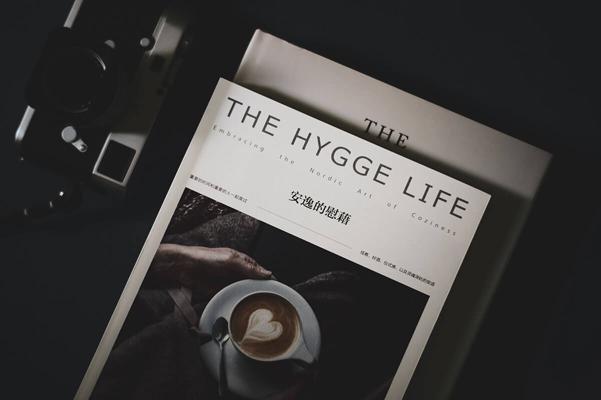 Black and white bookcover of The Hygge Life