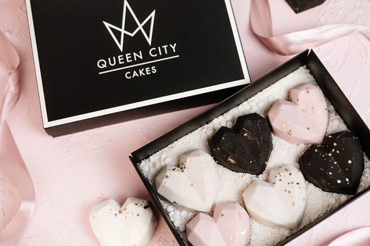 A box of pink and brown heart-shaped cookies in a box, a suggestion in the Regina February City Guide