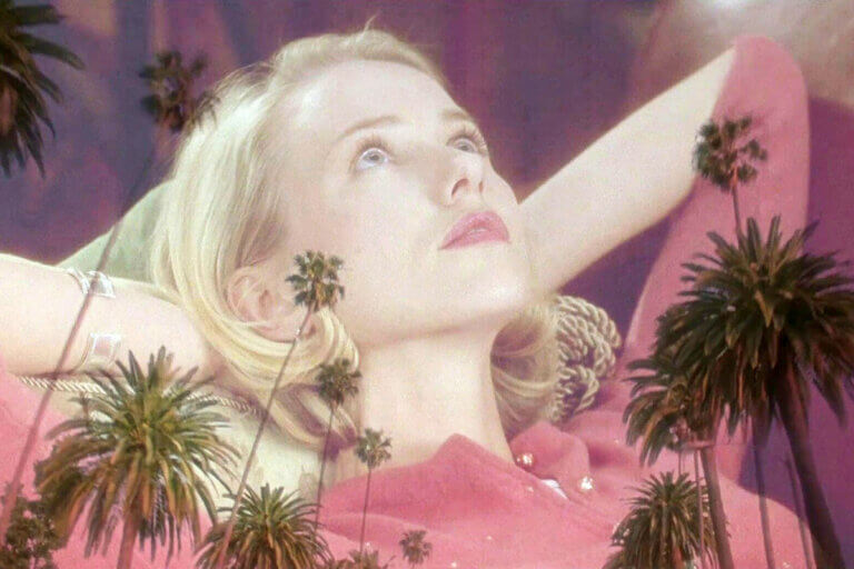 Part of the Cannabis (Virgin) Diaries, actress Kim Basinger looking up at the ceiling in the movie, Mullholland Drive