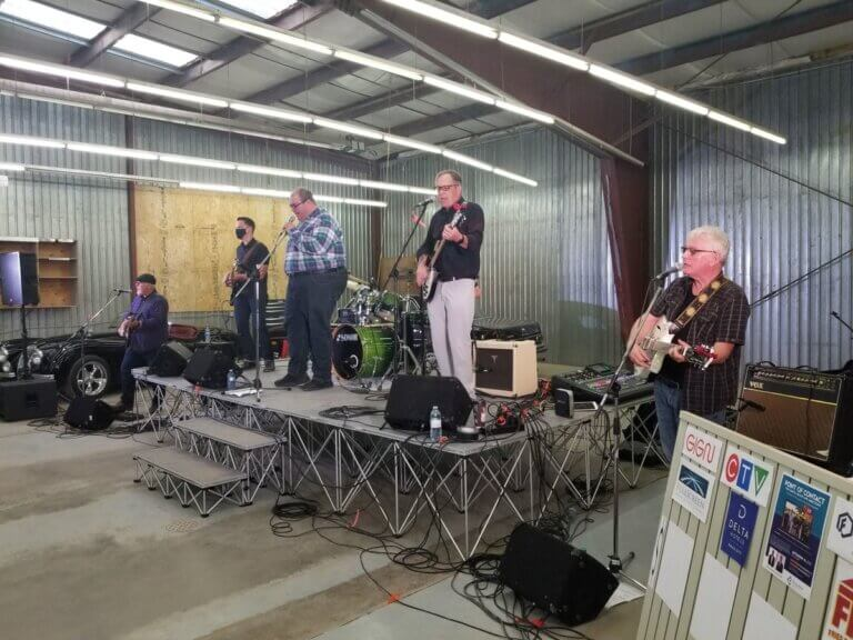 "The Garage Band from Regina performing for The Caring Place ""point of contact"" fundraiser"