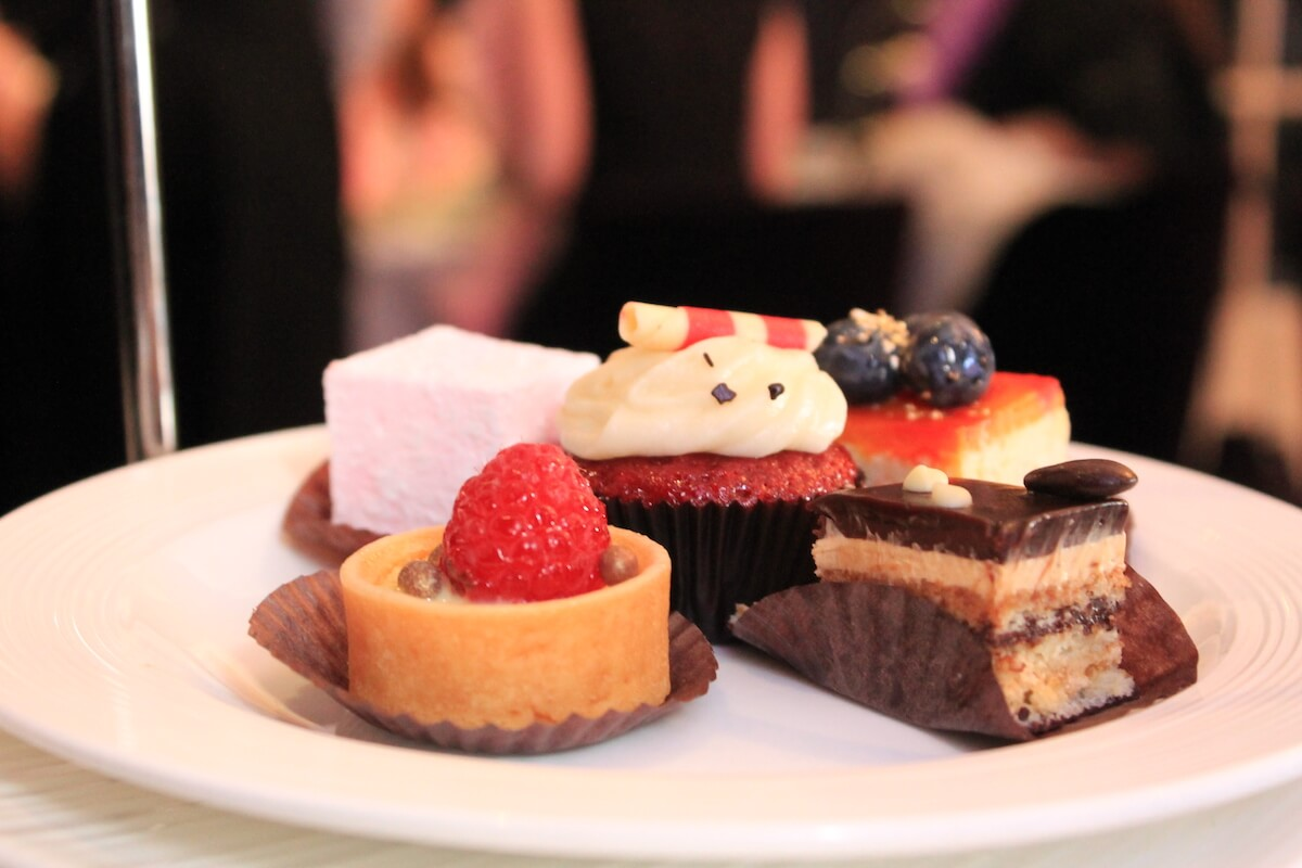 A selection of desserts commonly found at high tea restaurants in Toronto