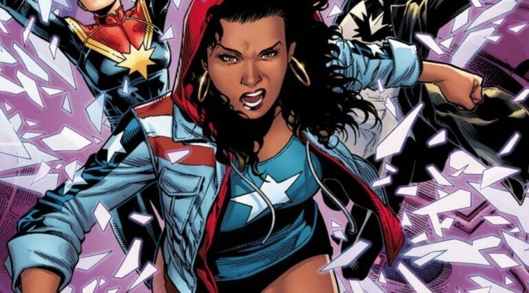 cartoon character of a female superhero