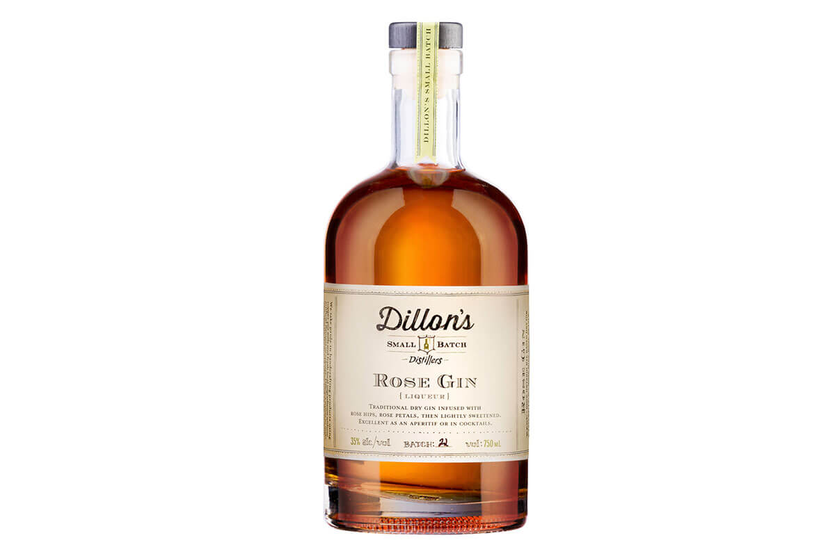 A bottle of Dillon's Rose Gin, 1 of 4 Toronto craft gins
