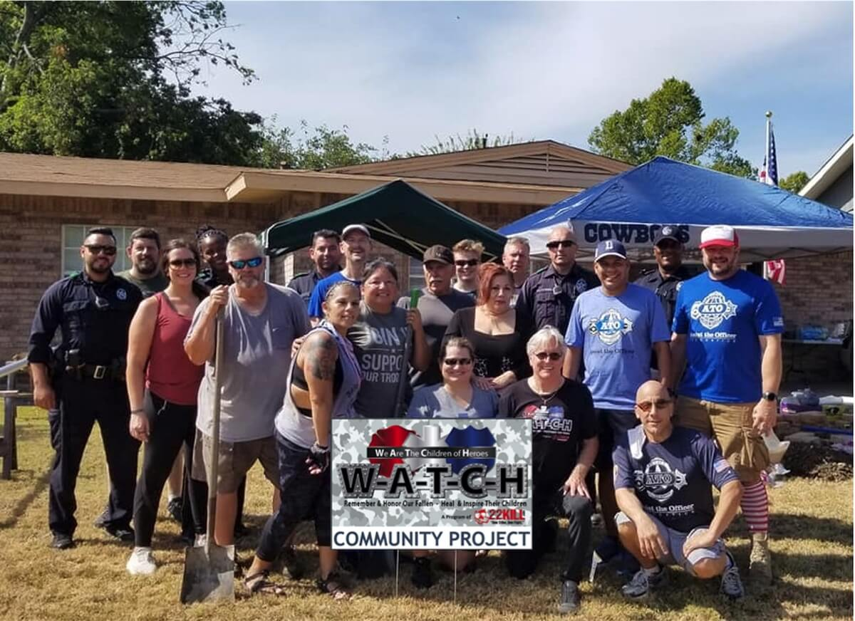 Members of the 22Kill WATCH program that supports families of heroes