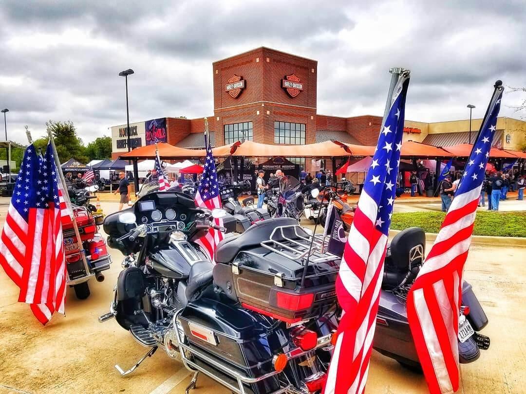 motocycles parked at annual 22kill ride 2021