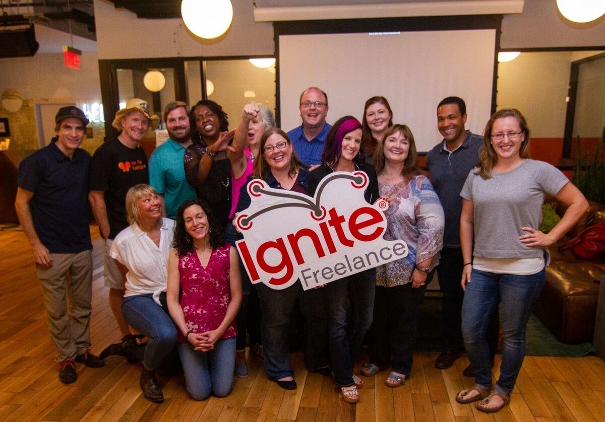 Ignite Freelance group of men & women, Austin Freelance Gigs connects