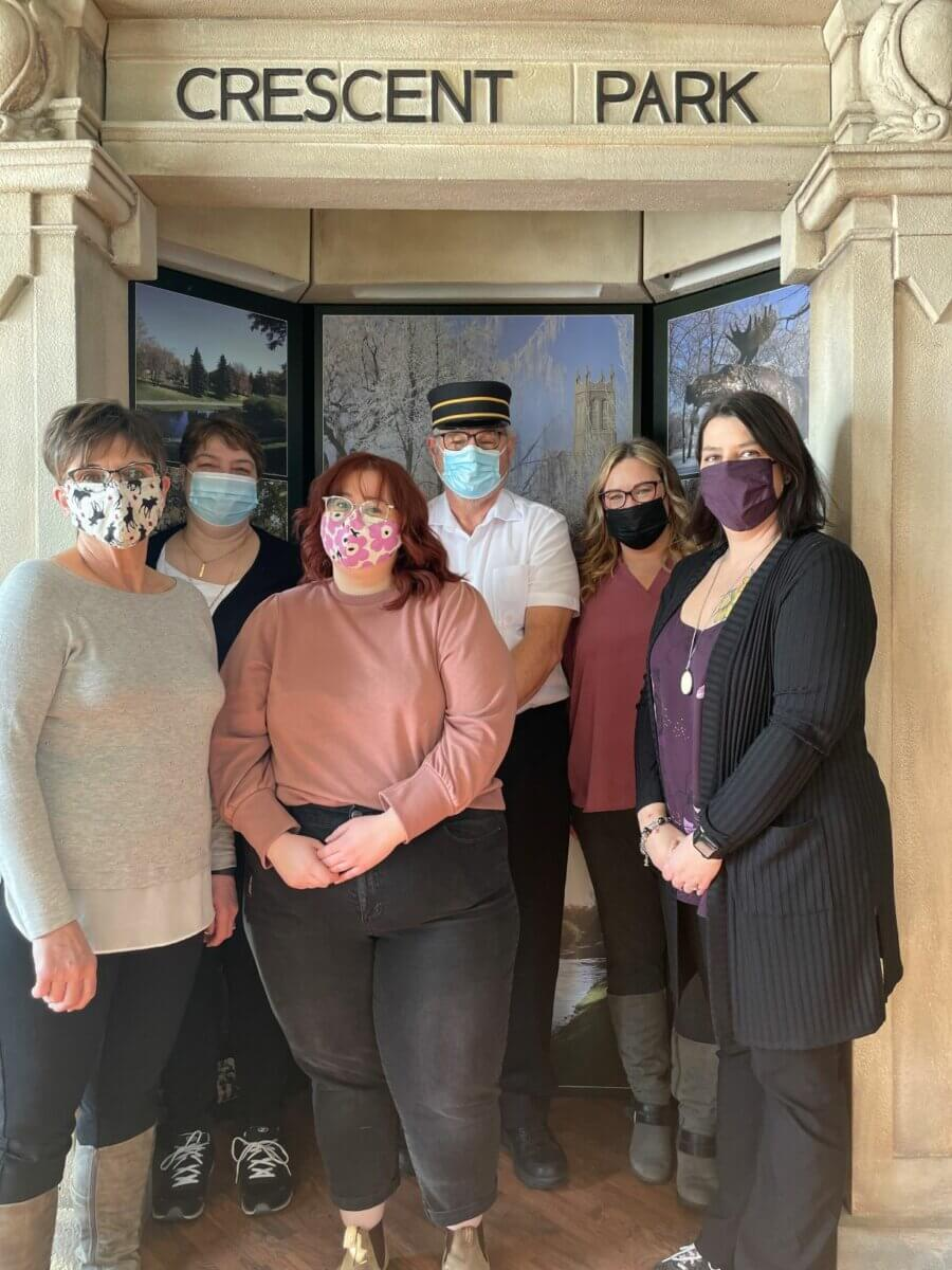 6 staff members at Tourism Moose Jaw