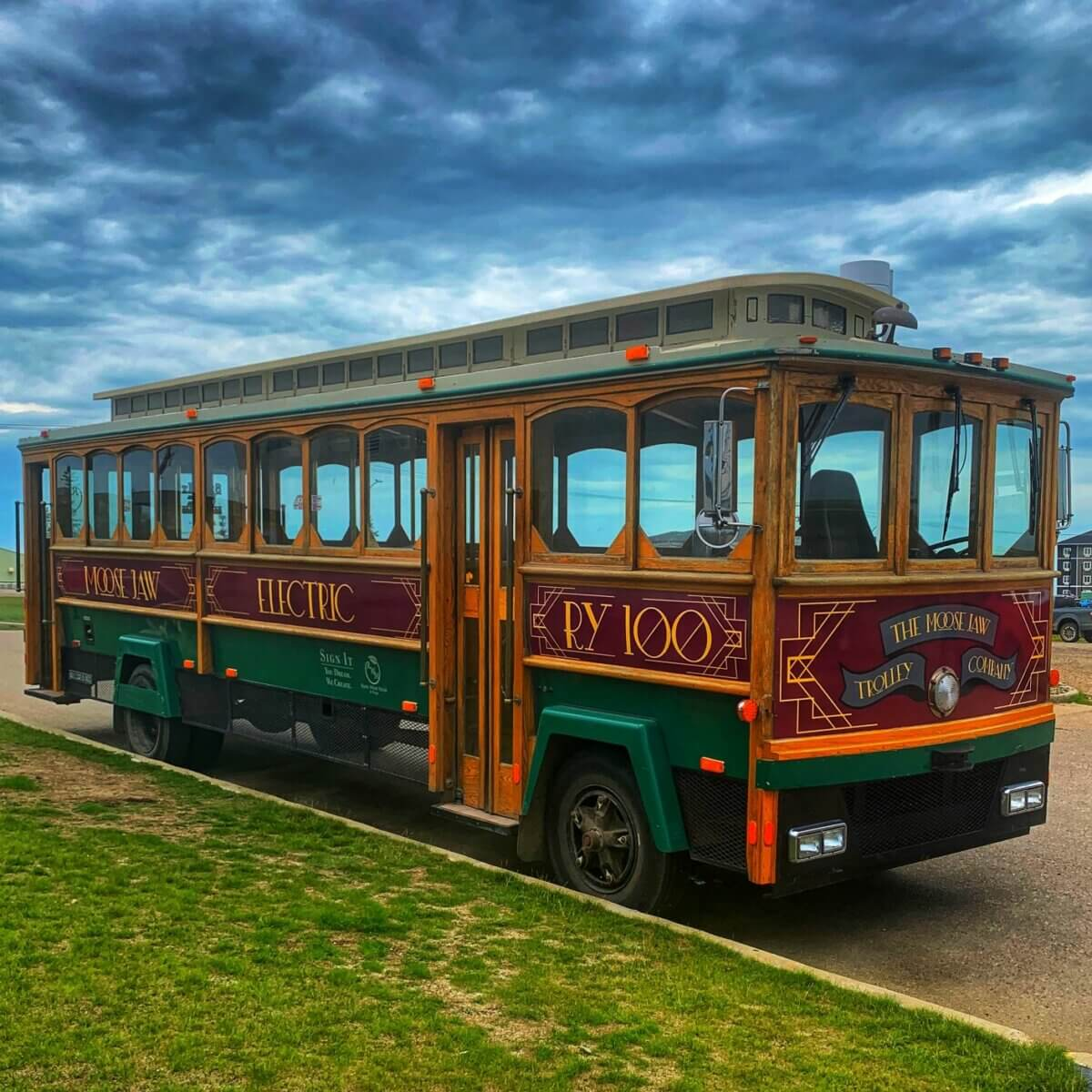 Moose Jaw trolley bus, ready for fun times this summer
