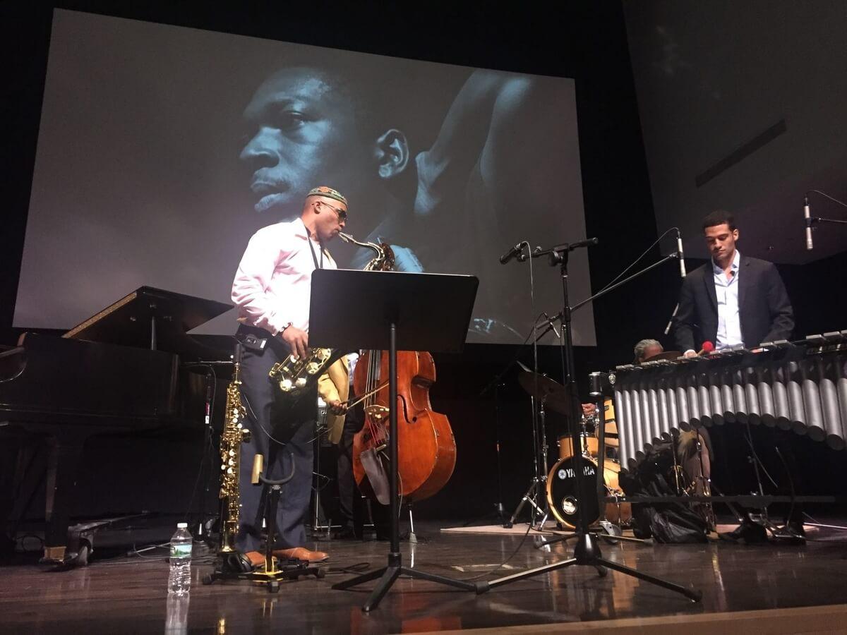 jazz performer at a jazz buffalo event