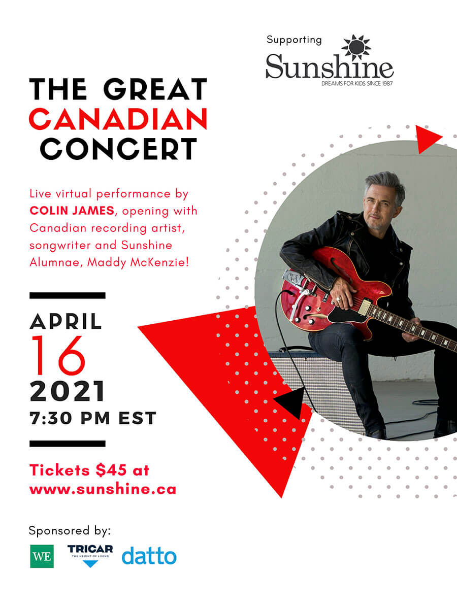 poster of the great canadian concert with colin james