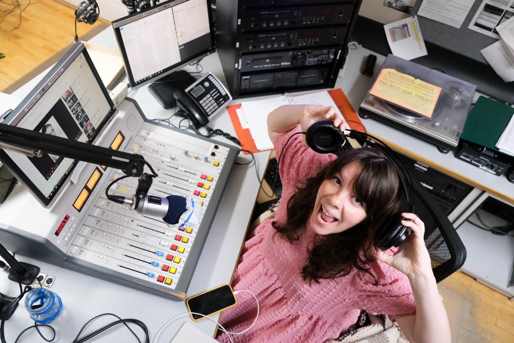 darby sutherland hosting thrice inside saskatoon community radio station