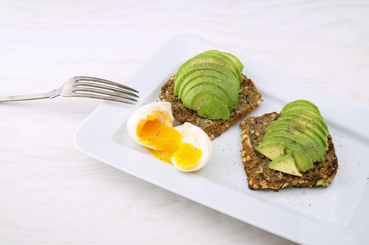 Eggs, avocado & toast are an example of sports nutrition