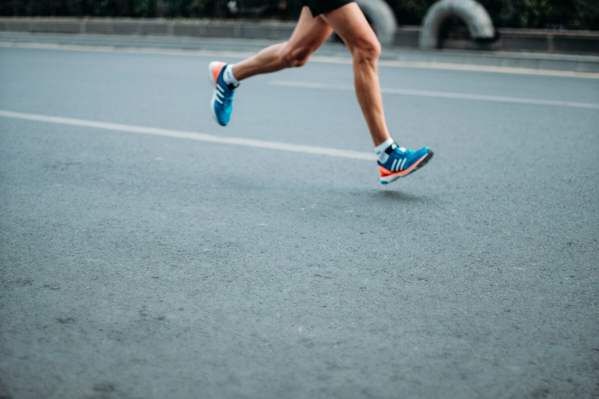 a man's legs running, 1 of 5 natural mood boosters