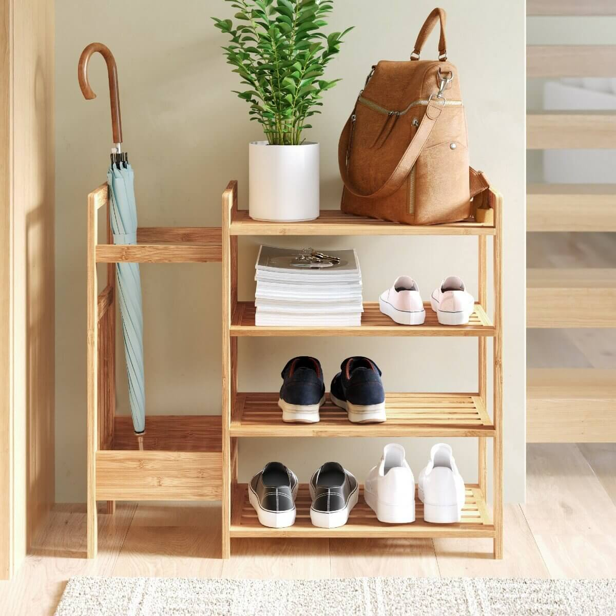 bamboo shoe rack, an eco-friendly home product