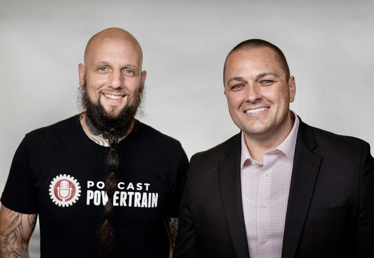 2 men in black attire hosts of convicted life podcast