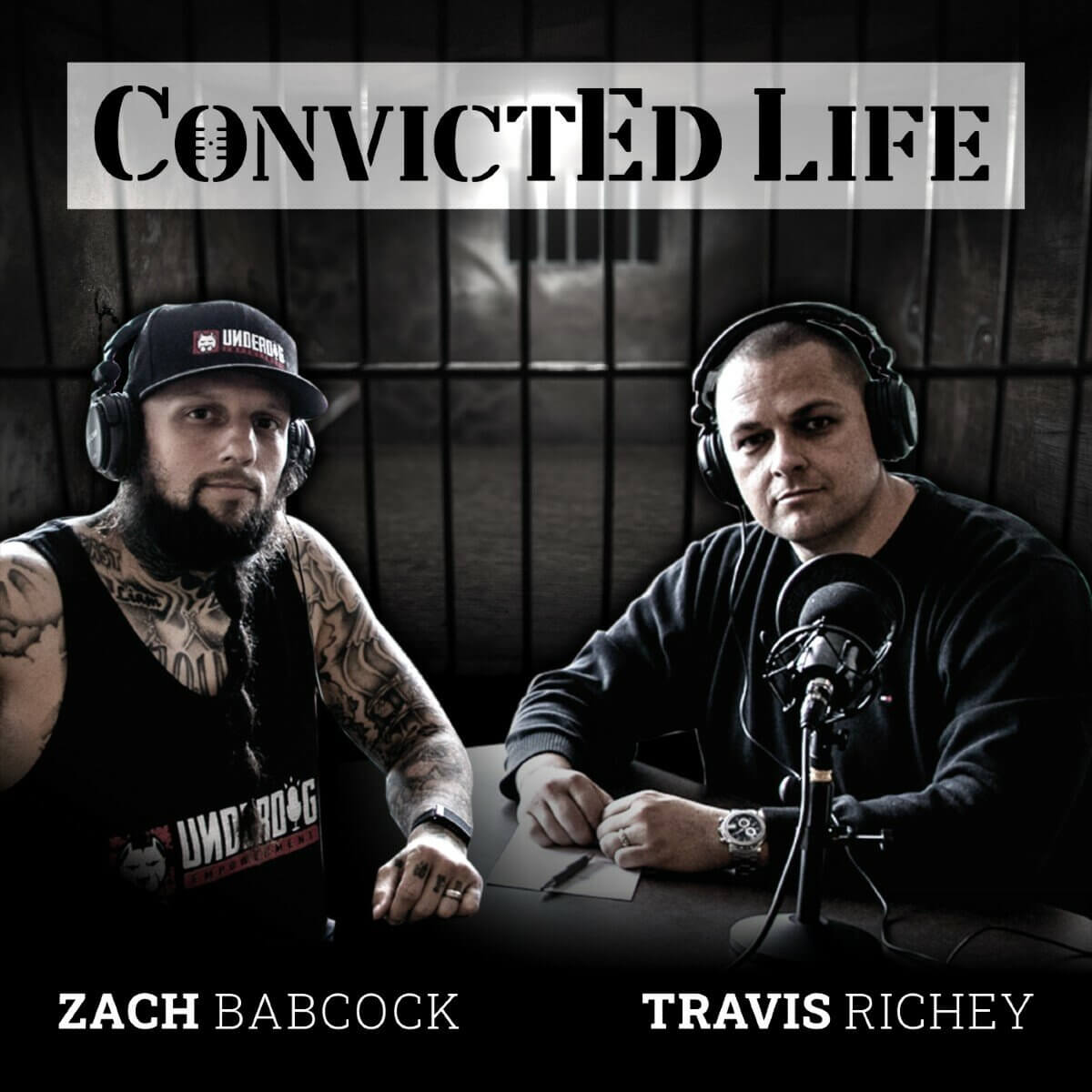 2 men doing podcast for convictED life