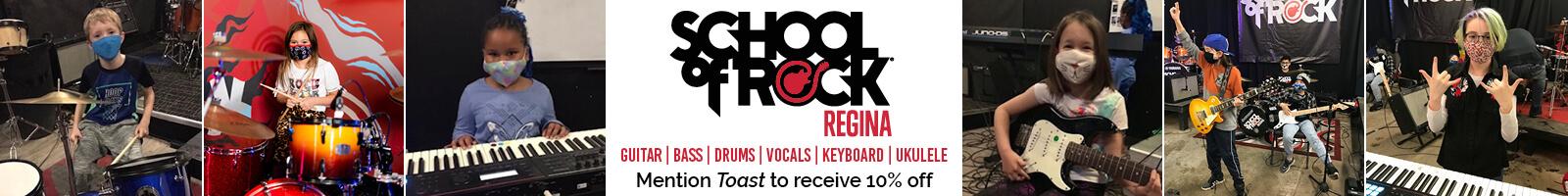 School of Rock Regina banner ad