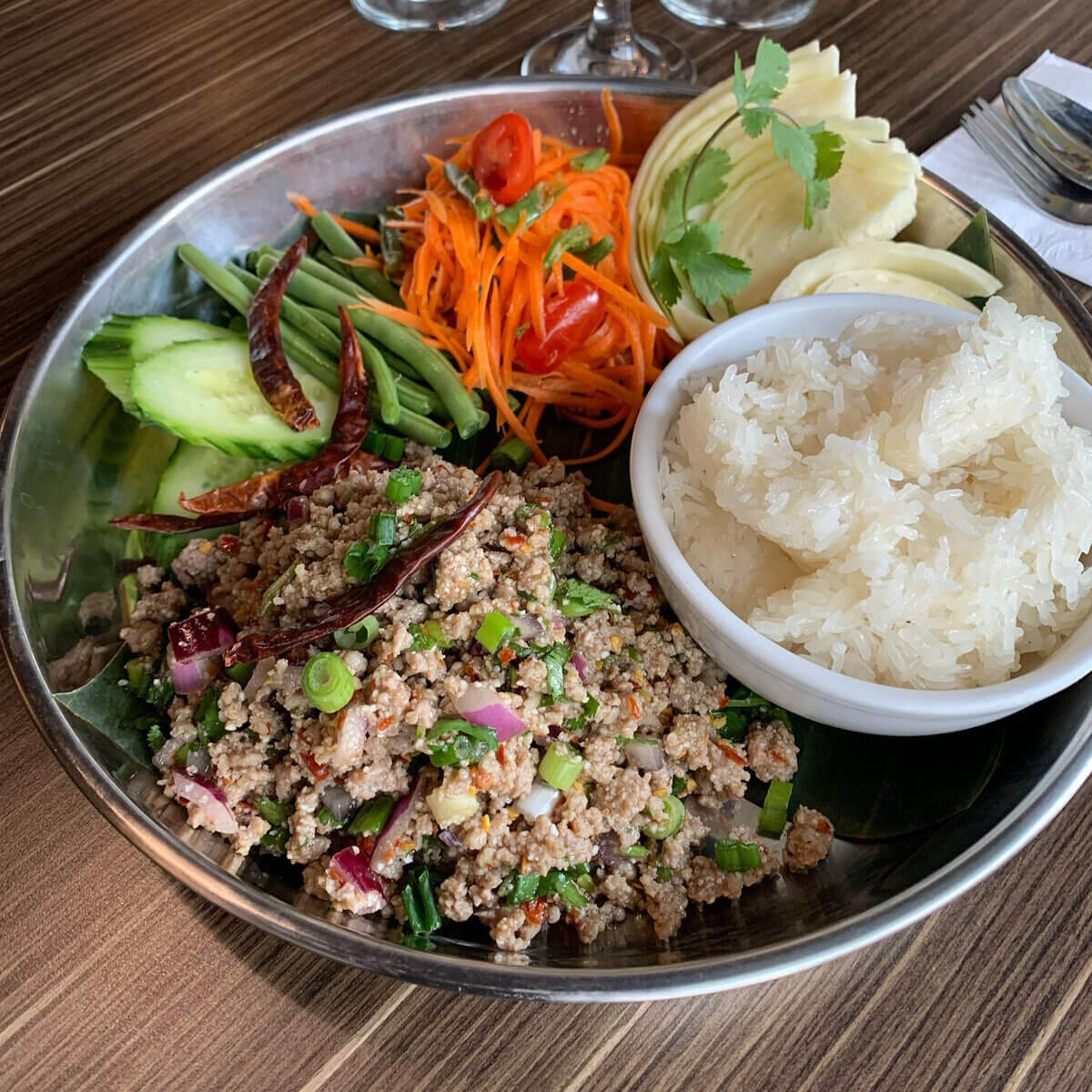 a bowl of siam authentic thai food to enjoy during may activities in regina