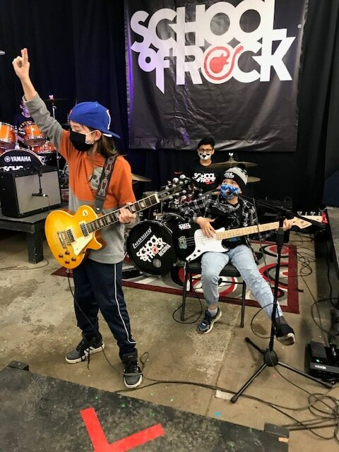 music students rocking in a band at Regina's School of Rock