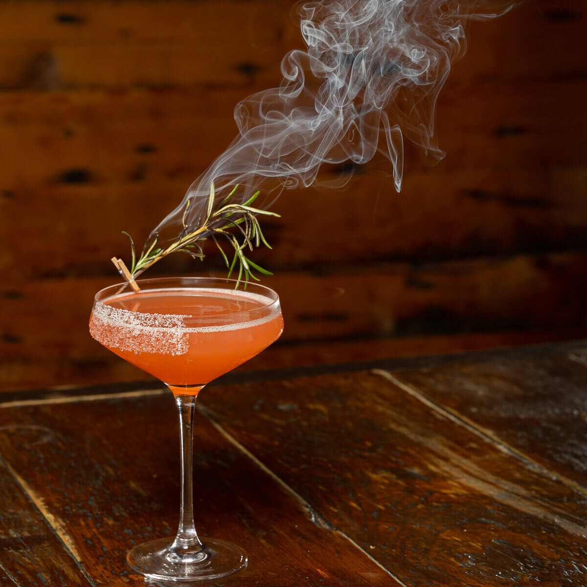 A margarita with smoking herbs, only1andywright photography stands out