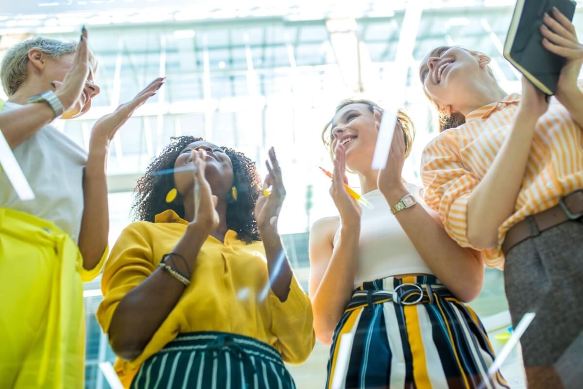 four women celebrating women's business awards 2021 in austin texas