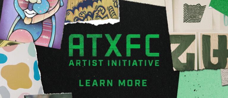 Artist murals at Austin FC Soccer Club