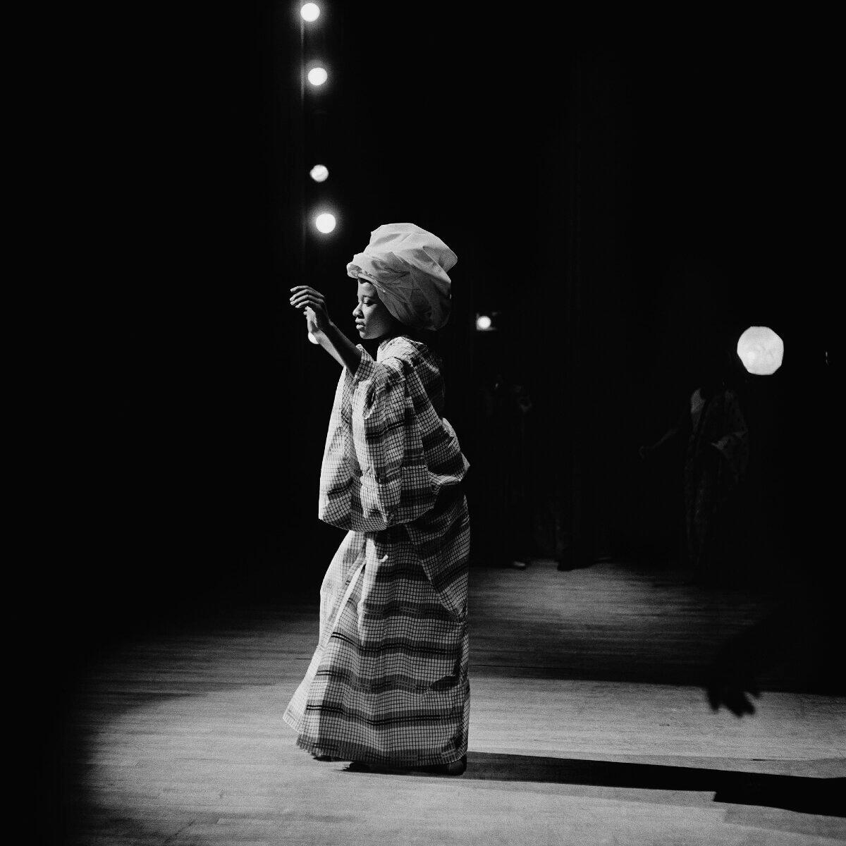 image of black woman dancing in Blanton Museum of Art