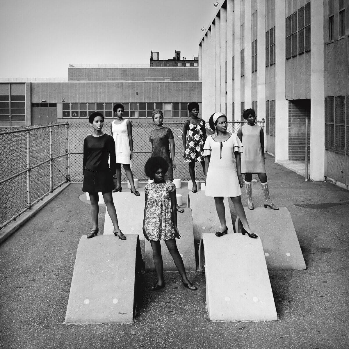 a group of black models in the 60s at blanton museum of art