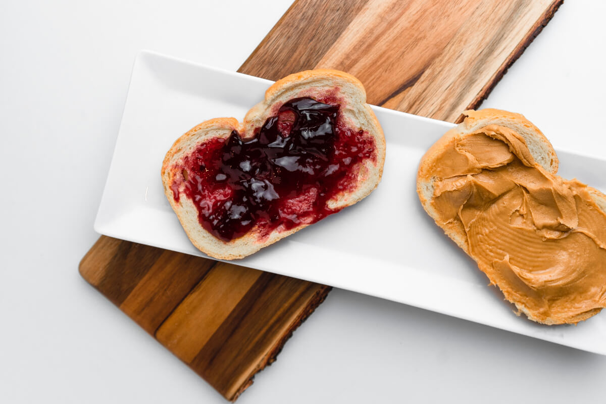 jam & toast on a wood board, free fodd from austin recycle love