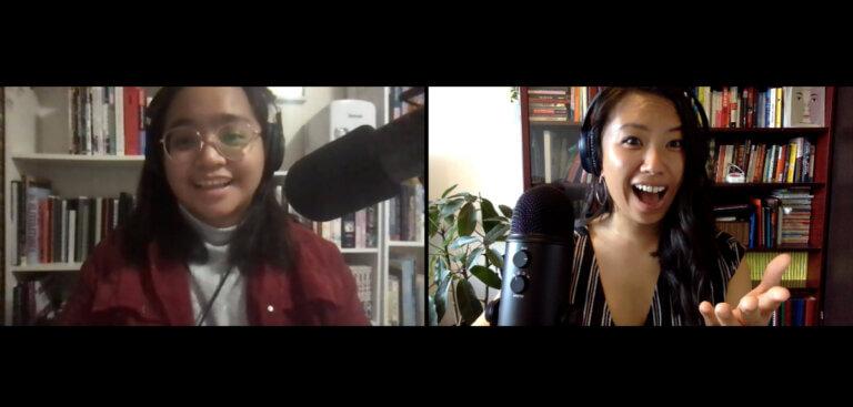2 women in new living hyphen podcast