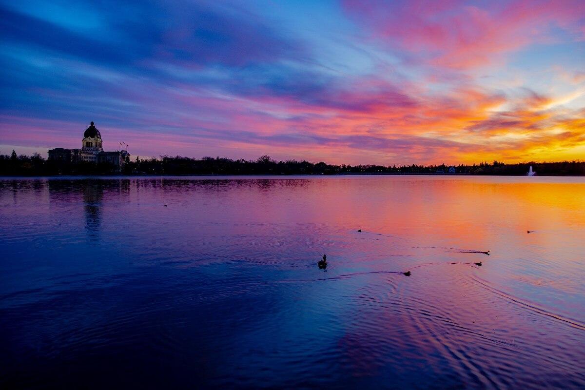 wascana lake in regina at sunset, things to do