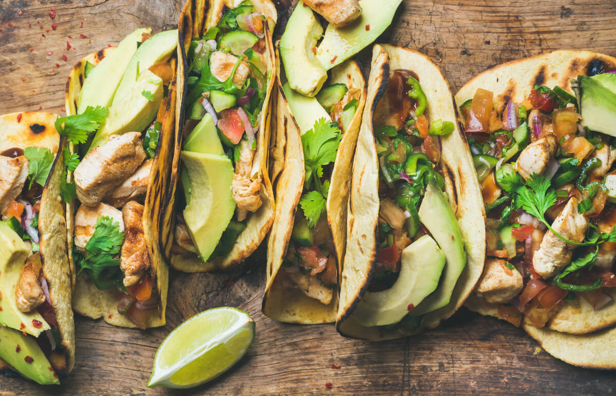 chicken tacos are some of the best air fryer recipes for beginners