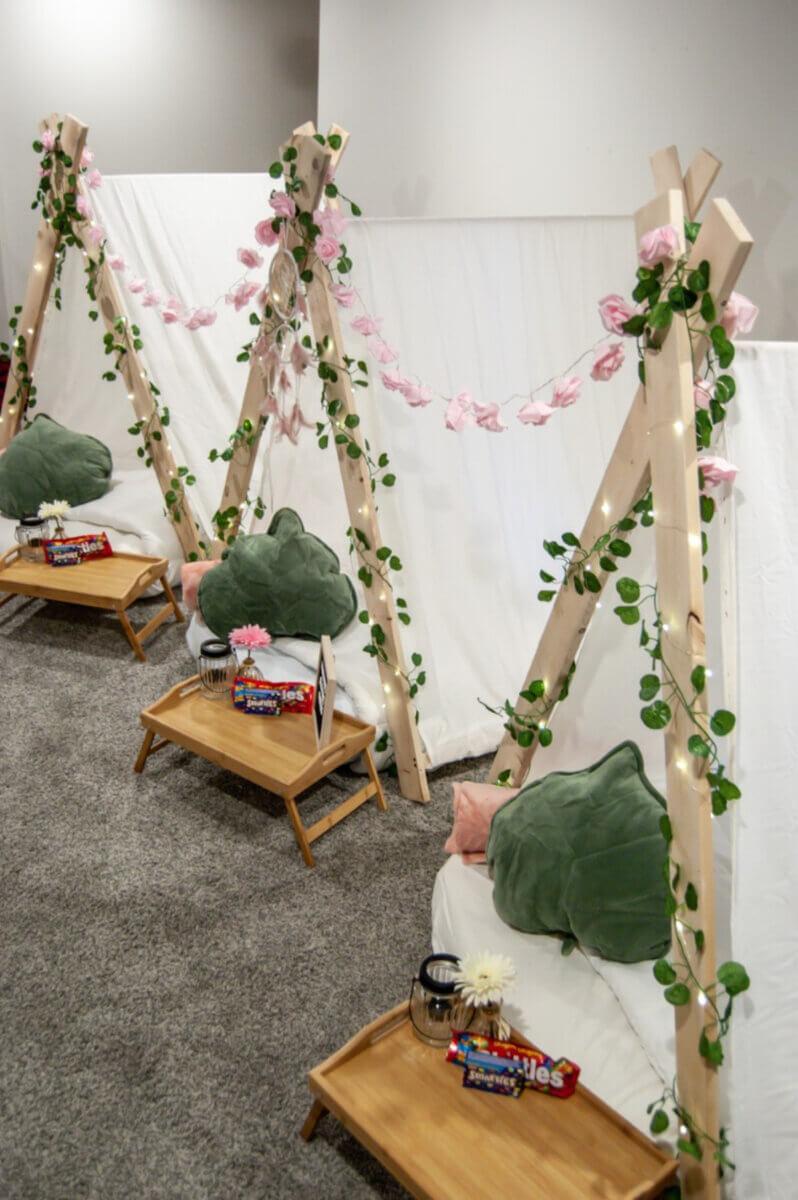 floral stations at midsummer slumber parties regina