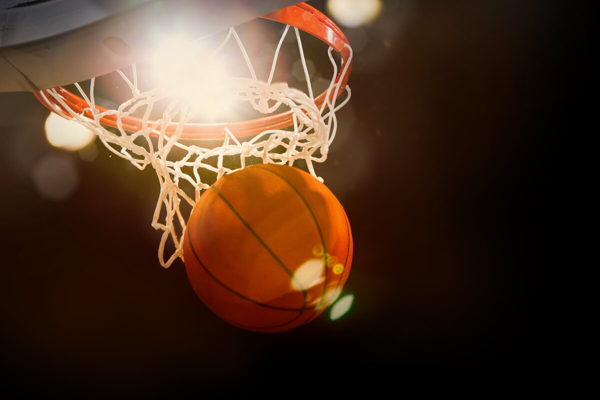 basketball flying through hoop, teaching financial literacy to youth