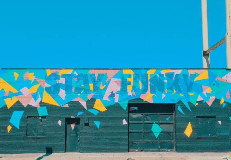 graffit wall art that keeps austin weird